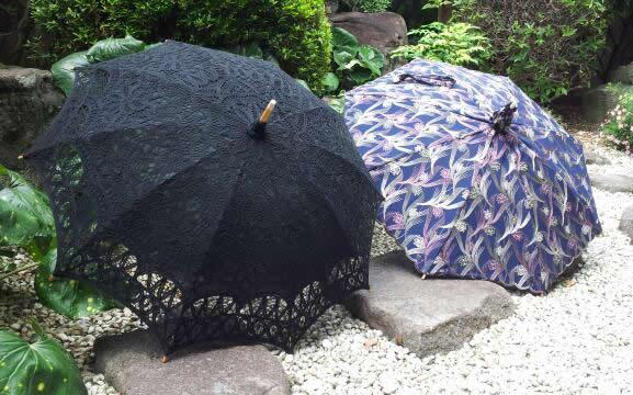 フリル・レース型日傘